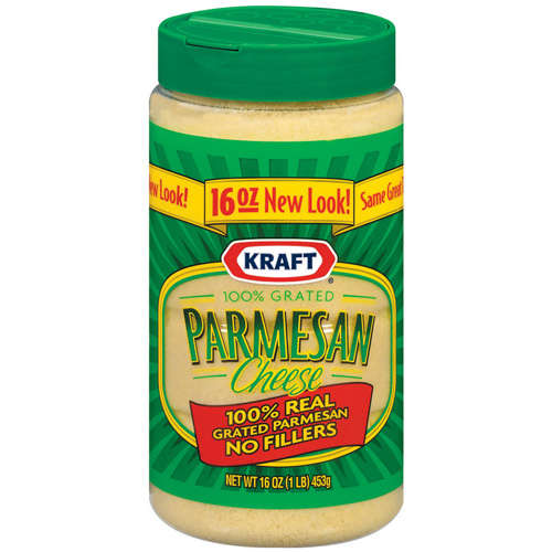 Kraft Grated Cheese: Cheese 100% Real Parmesan, 16 Oz