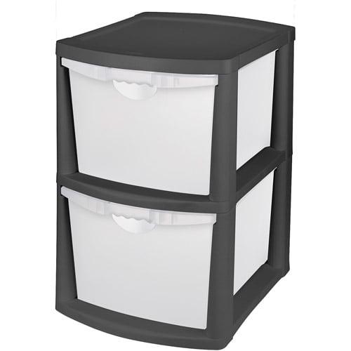 Sterilite 2 Bin Storage System Black Walmart Com