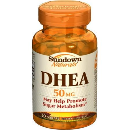 Sundown Naturals DHEA 50 mg comprimés 60 comprimés (lot de 6)