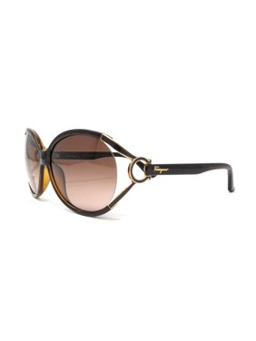 f615a598a4 Product Image Salvatore Ferragamo Sunglasses SF600S 220 Pearl Dark Brown  Oval 61x14x130