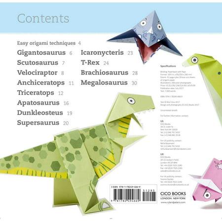 Origami Dinosaurs Kit (Book and Kit) - Tuttle Publishing | 450x450