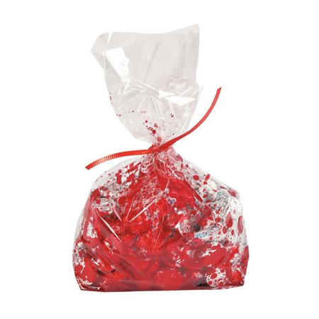 Fun Express - Bloody Cello Bag (dz) for Halloween - Party Supplies - Bags - Cellophane Bags - Halloween - 12 Pieces](Fun Halloween Party Names)