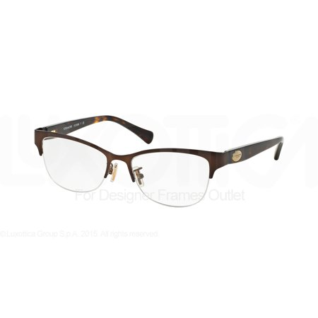 COACH Eyeglasses HC 5066 9155 Satin Brown/Tortoise 53MM