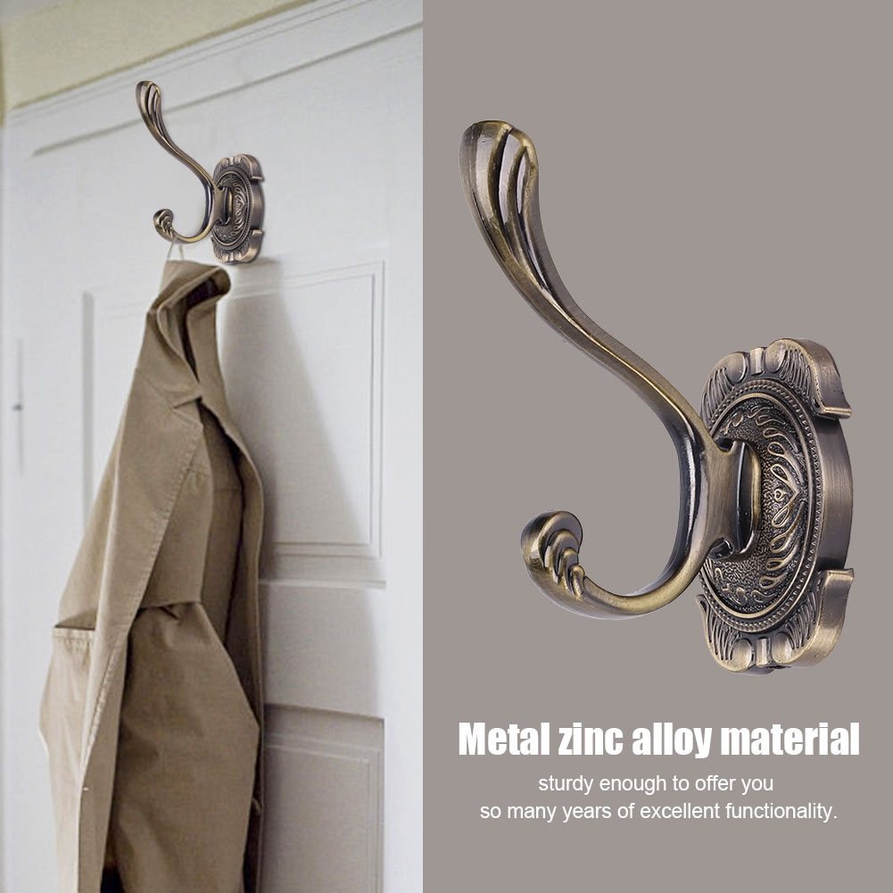Yosoo Antique Bathroom Metal Door Towel Hanger Holder Clothes Coat Hat Bag Hook Wall Mount, Door Towel Hook,Wall Hanger Holder