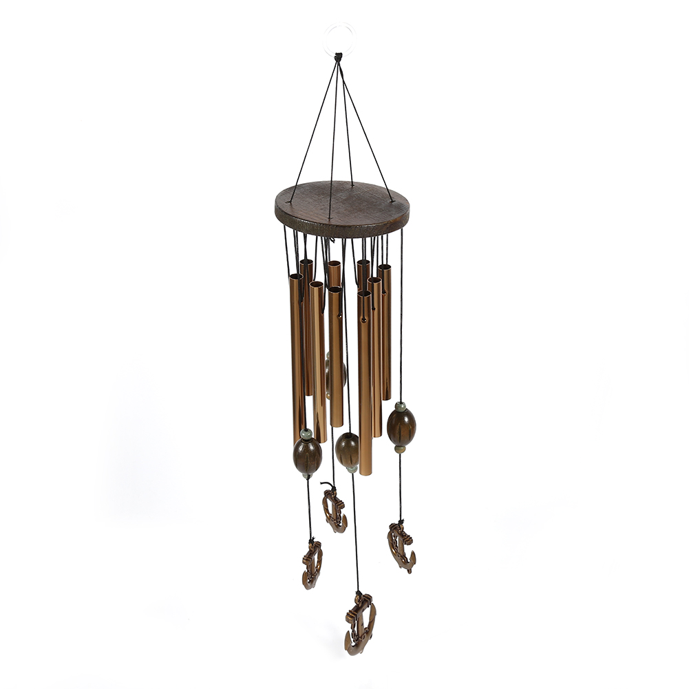 Dilwe Vintage Style Tubes Windchime Church Bells Wind Chimes Door Window  Hanging Home Decoration, Wind