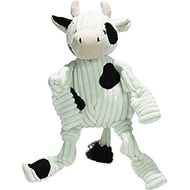 PF  Plush Corduroy Durable Cow Barnyard Knottie Dog Toy  Large