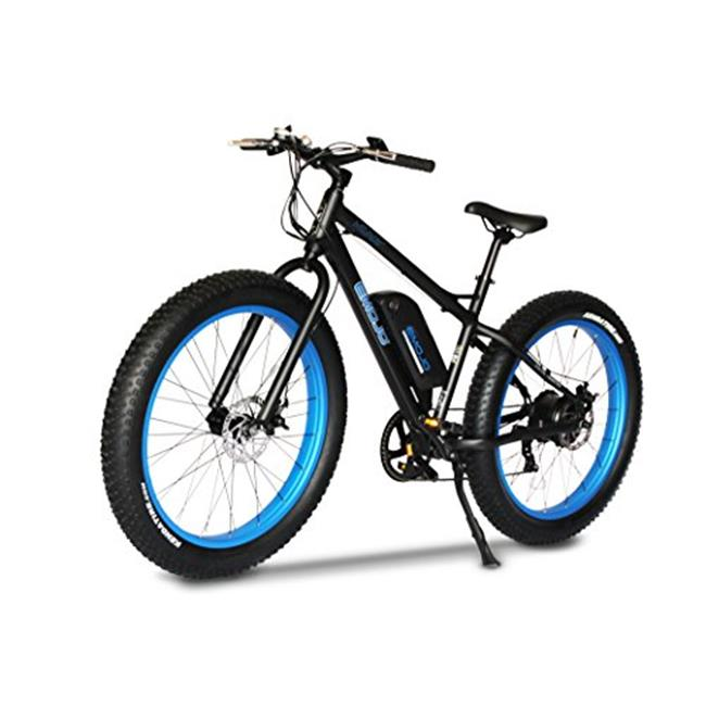 EMOJO WIL-BLK-BLU-48-500 Fat Tire Electric Bike Beach Snow Bicycle ebike 500W 48V Blue-Black 2017 electric moped
