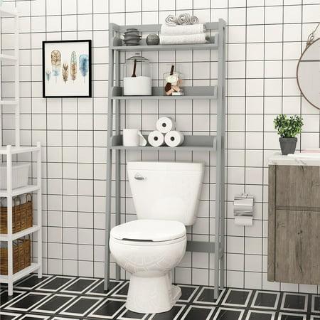 stunning bathroom shelves over toilet storage | UTEX 3 Shelves Bathroom Space Savers over Toilet Storage ...