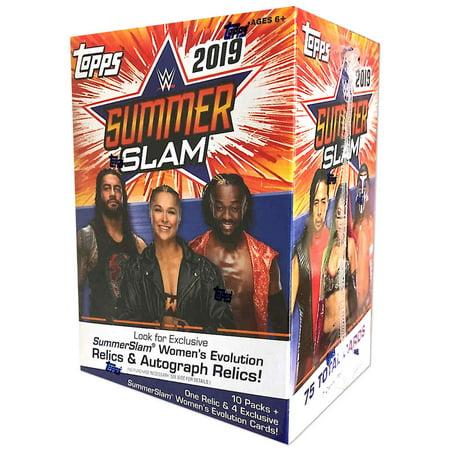 Topps 2019 WWE SummerSlam Wrestling Retail Blaster Box (Wrestling Cards)