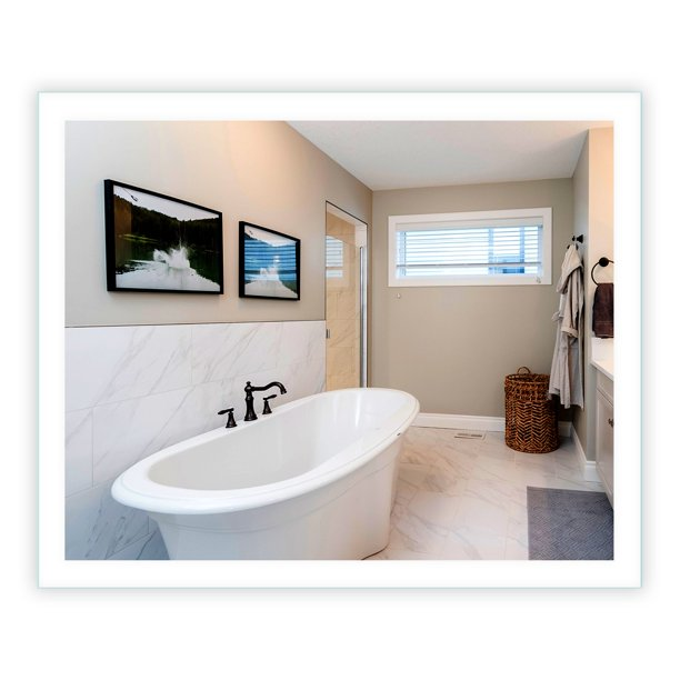 "LED Side-Lighted Bathroom Vanity Mirror: 44"" wide x 36 ..."