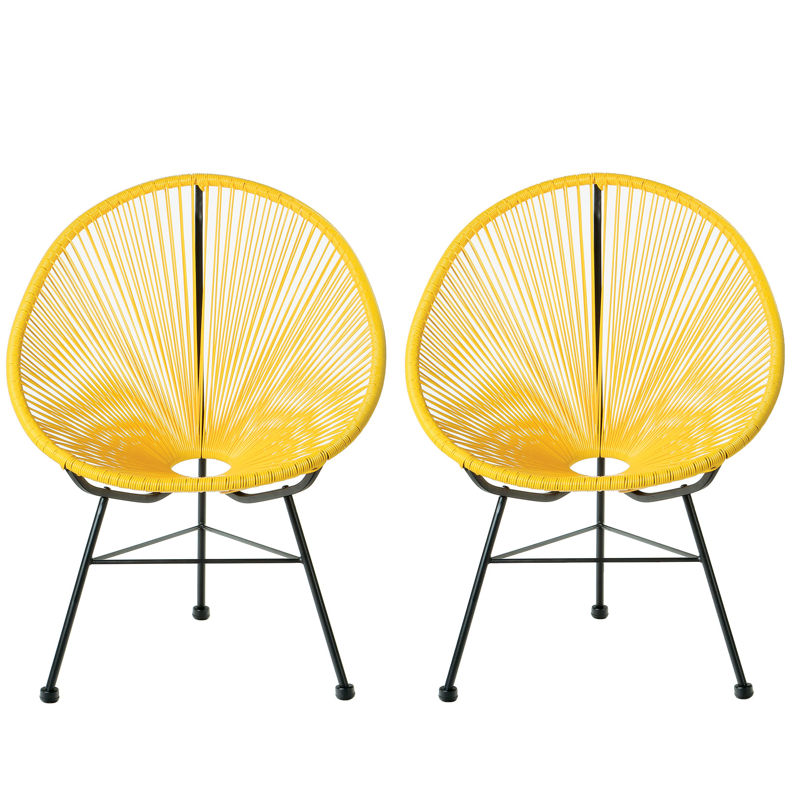 Acapulco Lounge Chair, Yellow, Set of 2