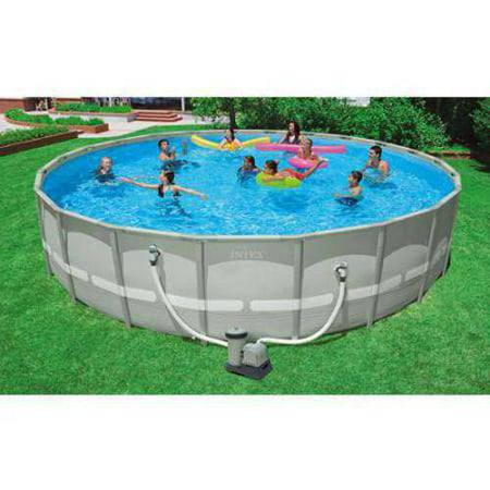 Intex 22 X 52 Ultra Frame Above Ground Swimming Pool With Filter
