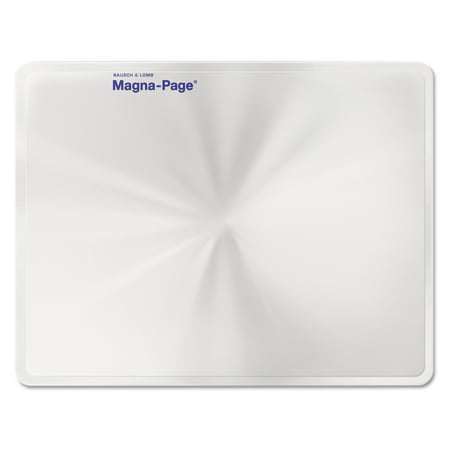 """Bausch & Lomb 2X Magna-Page Full-Page Magnifier w/Molded Fresnel Lens, 8 1/4"""" x 10 3/4"""""""