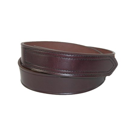 Men's Leather 1 3/8 inch Hook and Loop No Scratch Work (West Loop Leather)