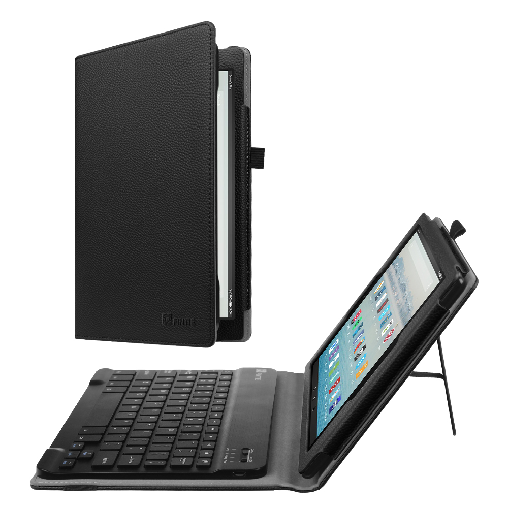 Fintie Keyboard Case for Amazon Fire HD 10 (7th Gen, 2017 Release) - Folio Standing Cover with Bluetooth Keyboard