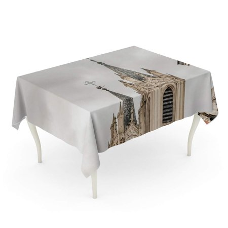 NUDECOR Exterior View of San Jeronimo El Real Towers Sixteen Century Monastery Eclectic Archite Tablecloth Table Desk Cover Home Party Decor 60x104 inch - image 1 de 1