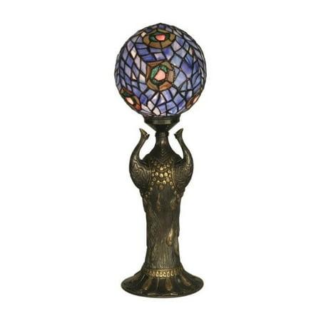 Dale Tiffany Peacock - Dale Tiffany Globe Peacock Replica Table Lamp
