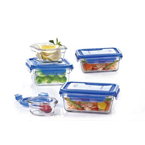 Glasslock 5 Container Food Storage Set Walmart Com