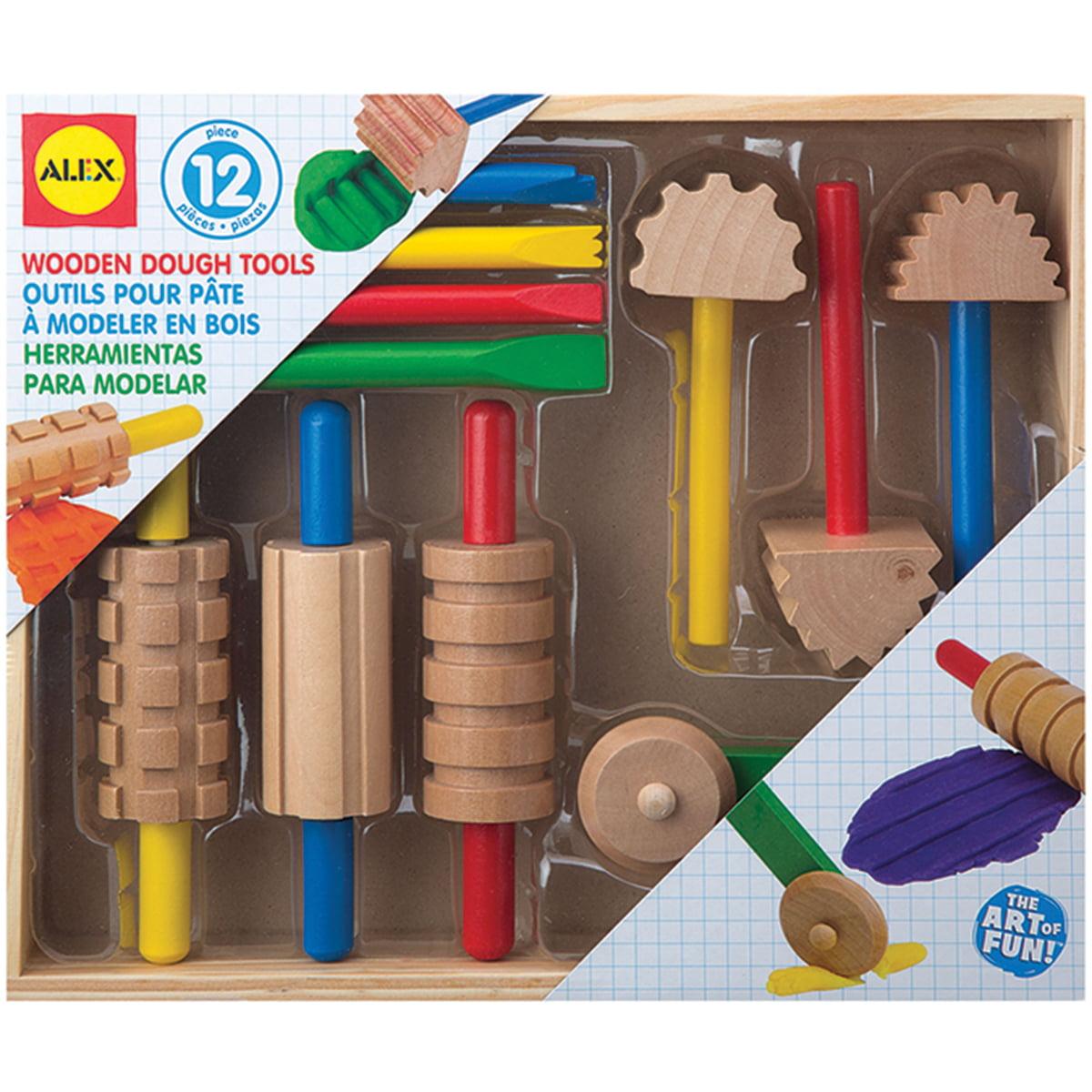 Alex Toys Wooden Dough Tools 11/Pkg