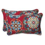 Pillow Perfect Outdoor/ Indoor Cera Garden Rectangular Throw Pillow (Set of 2)