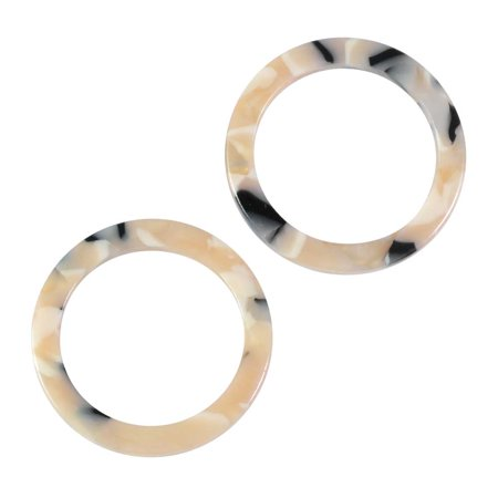 Zola Elements Acetate Connector Link, Circle 24mm, 2 Pieces, Black Pearl (Colored Acetate)