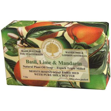France Lime Basil - Wavertree and London Basil Lime and Mandarin Australian Natural Luxury Soap Bar 7 Ounces