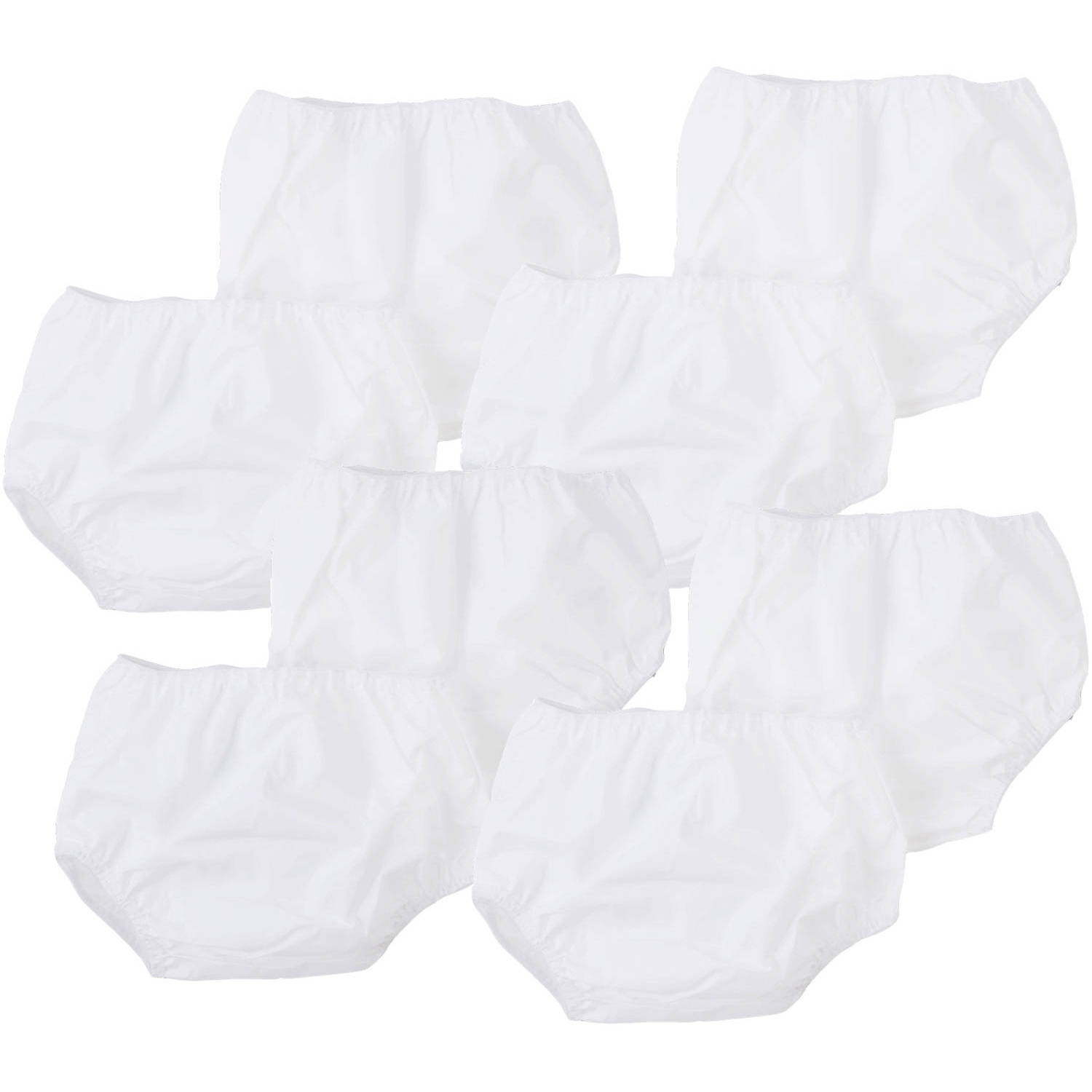 Gerber Newborn Baby White Waterproof Pants - 8 Pack