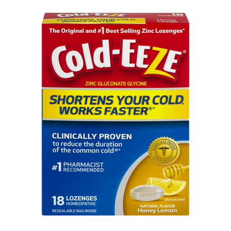 Cold-EEZE All Natural Lozenges, Honey Lemon, 18