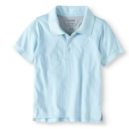 2f9fe3e3 Cherokee - Boys' School Uniform Short Sleeve Pique Polo With Cooling Fabric  - Walmart.com