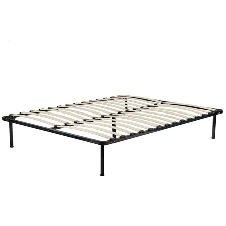 Bed Frame Metal Platform Bed Frame Black 13 Inch Wood Slat Steel ...