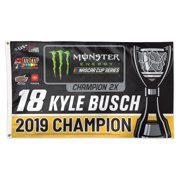 Kyle Busch WinCraft 2019 Monster Energy NASCAR Cup Series Champion On-Track Celebration 1-Sided Deluxe 3' x 5' Flag