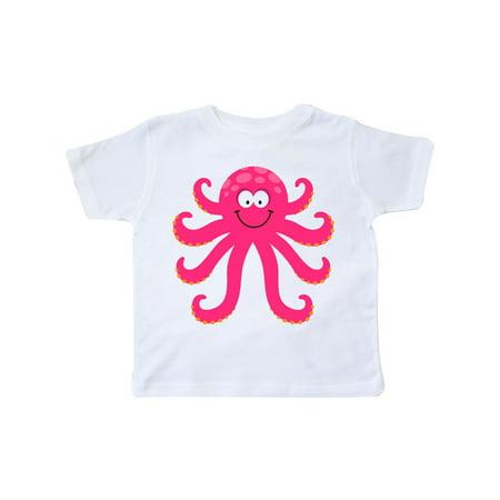 Octopus Sea Creature Pink Girls Toddler T-Shirt