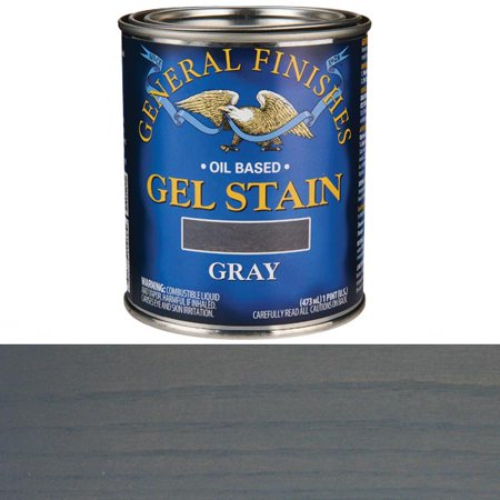General Finishes Gray Gel Stain, Pint