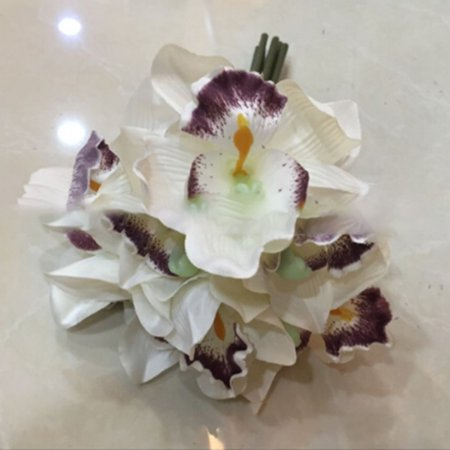 KABOER Artificial Flowers Orchid Silk Flowers Wedding Bouquet Home Room Party Decor