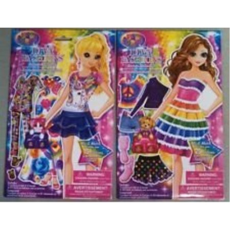 Characters To Dress Up As (lisa frank diva fashions dress up paper sticker doll(mix & match 15 fashions accessories) - varied)