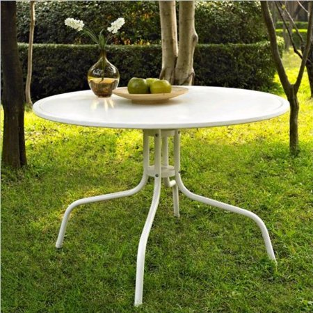 Crosley Furniture Griffith Metal 40-Inch Dining Table, White ()