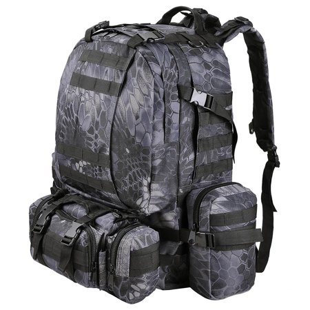 "55L Camping Bag 23x19x5.5"" Oxford Nylon Backpack Travel Hike Climb Military Tactical"