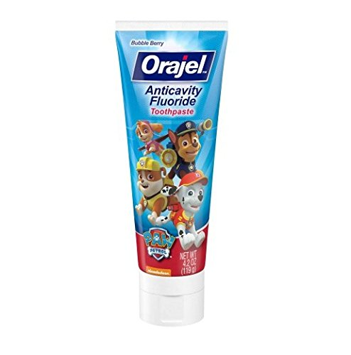 Orajel Paw Patrol Anticavity Fluoride Toothpaste 4.20 Oz (Pack of 2)