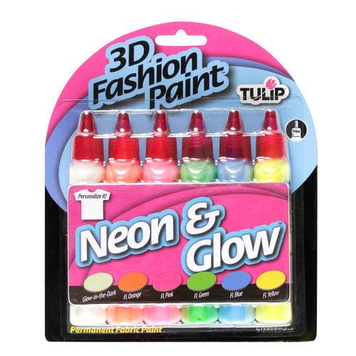 Tulip 3D Fashion Paint Starter Kit, Neon & Glow