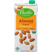 (2 pack) Pacific Foods Unsweetened Organic Almond Milk, 32 fl oz
