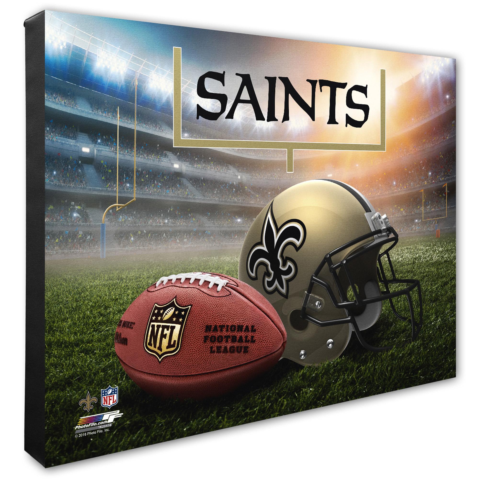 "New Orleans Saints 20"" x 24"" Helmet & Stadium Canvas - No Size"
