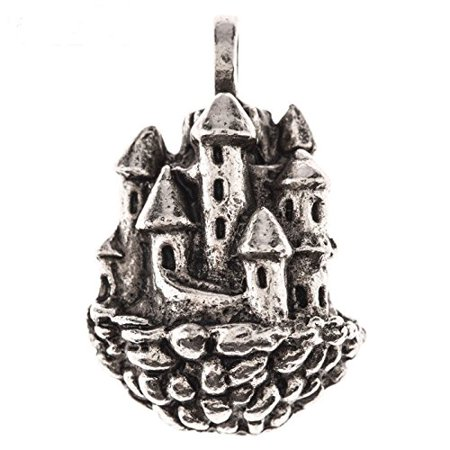Pewter Ox Plated Floating Castle Pendant - Castle Decorations