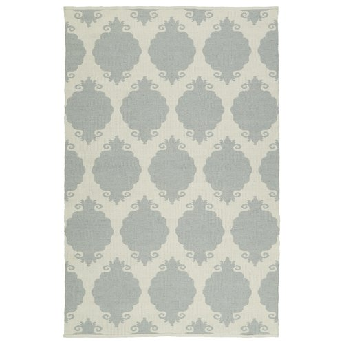 Ebern Designs Dominic Cream/Gray Indoor/Outdoor Area Rug