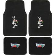 BDK Looney Tunes Bugs Bunny Carpet Floor Mats for Car, 4-Piece Front Rear Set, Cartoon Design Auto Accessories