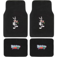 BDK Looney Tunes Bugs Bunny Carpet Floor Mats for Car, 4-Piece Front Rear Set, Cartoon Design Auto Accessories