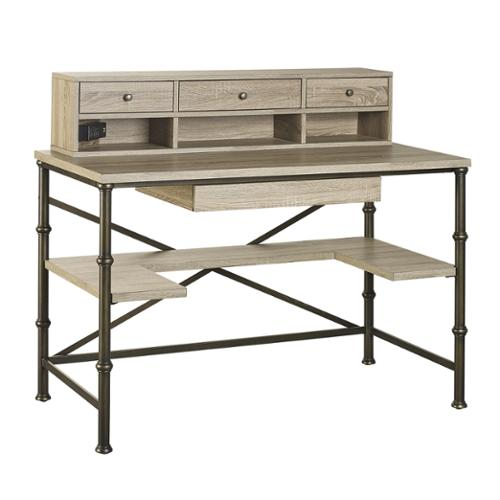 Griffeth Rectangle Writing Desk with Hutch