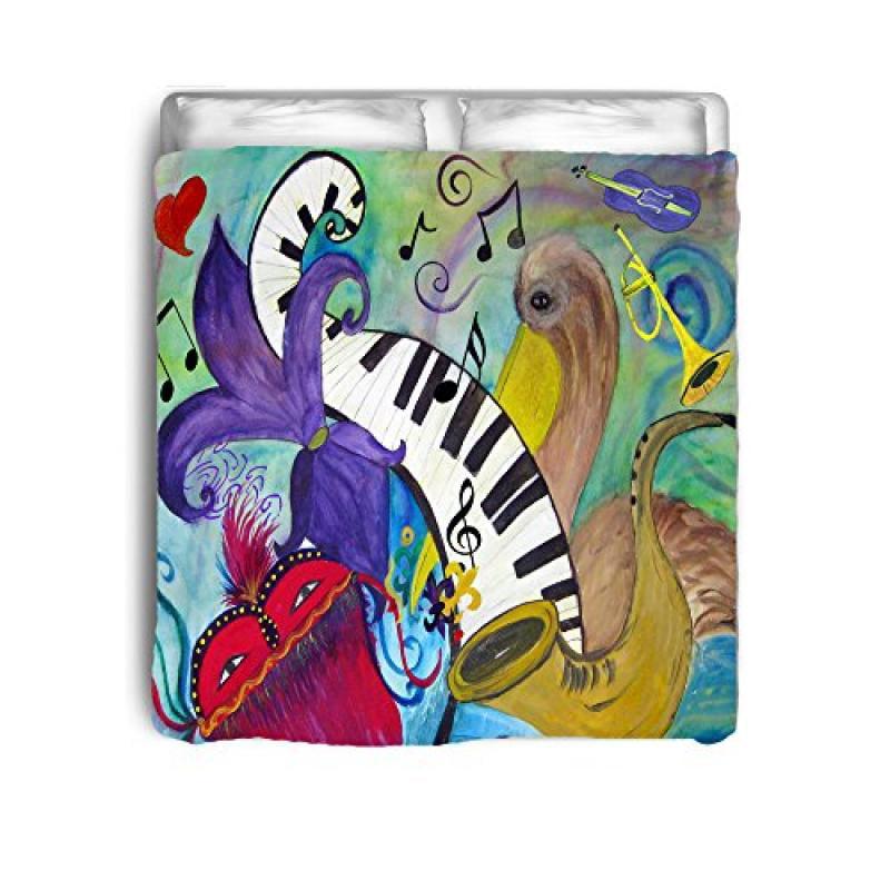 Pelican and Jazz Music Bed Comforter (King)