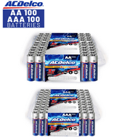 ACDelco AA and AAA Super Alkaline Batteries, 100-Count of AA and 100-Count of AAA