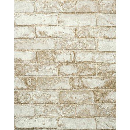 Modern Rustic Brick Wallpaper