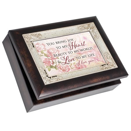 - Cottage Garden IMB206 I Love You Burlwood Italian Style Music Box
